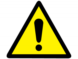 exclamation mark - advice notices
